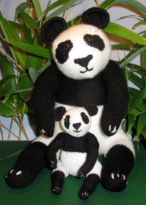 Mother and Baby Panda Knitting Pattern by MadMonkeyKnits (4) - Digital Version