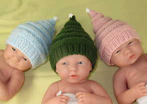Preemie, Tiny & Newborn Baby Little Star Christmas Beanie Hat by MadMonkeyKnits (882) - Digital Version
