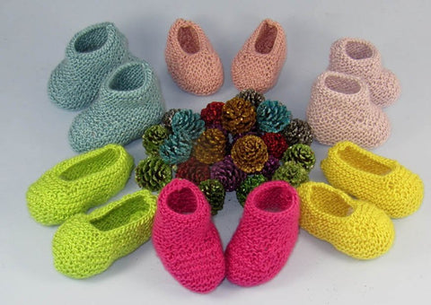 Really Easy Baby Booties & Slippers by MadMonkeyKnits (546) - Digital Version