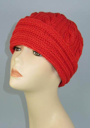 Rib Cuff Beanie Hat by MadMonkeyKnits (1002) - Digital Version
