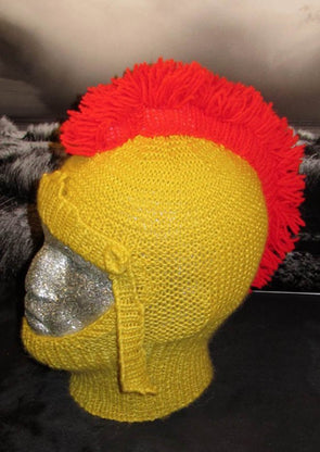 Roman Gladiator Balaclava by MadMonkeyKnits (122) - Digital Version