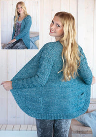 Womens Cardigan in Scheepjeswol Stone Washed - Digital Version