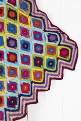 Stylecraft Square Crochet Blanket in Life DK with Free Pattern (9256) - Blue
