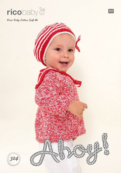 Sailors Sweater and Sailors Hat in Rico Design Baby Cotton Soft DK (324)