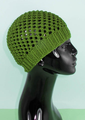 Simple Chunky Lacey Skullcap by MadMonkeyKnits (616) - Digital Version