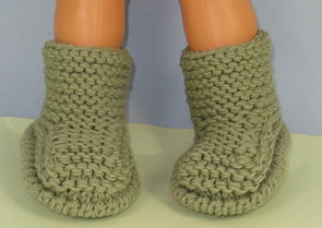 Simple Superfast Childrens Garter Stitch Ankle Boots by MadMonkeyKnits (964) - Digital Version
