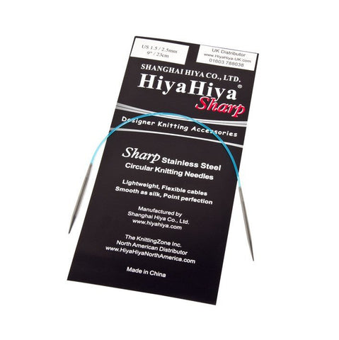 HiyaHiya Sharp Circular Knitting Needles - 40cm - 7.50mm