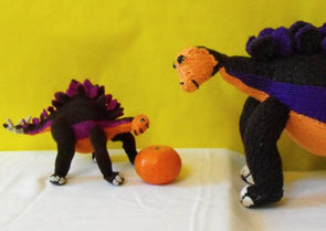 Steve and Baby Little Stevie Stegosaurus by MadMonkeyKnits (0012) - Digital Version