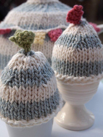 Summer Bunting Egg Cosies by Sue Stratford in Rico Design Essential Cotton DK