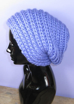 Super Chunky Side Rib Slouch Hat by MadMonkeyKnits (995) - Digital Version
