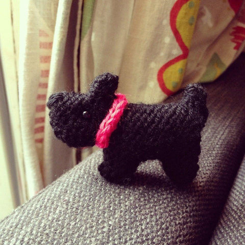 Tiny Scottie Dog by Sue Stratford in Deramores Studio DK