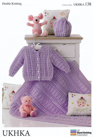 Cardigan, Hat and Blanket in DK (UKHKA138)