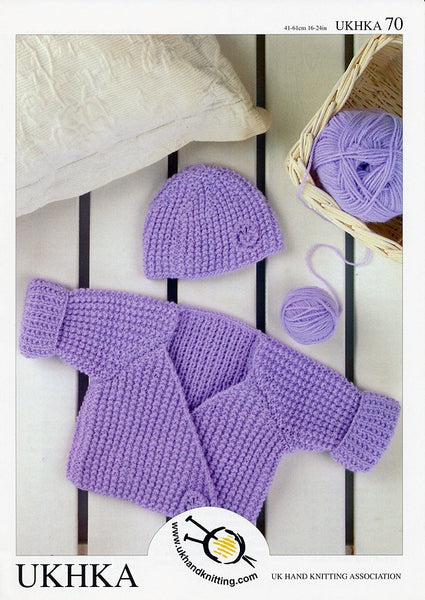 Wrap Cardigan and Hat in Baby DK (UKHKA70)