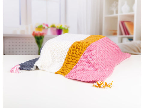 Lumi Blanket by Emma Knitty in Deramores Studio Aran