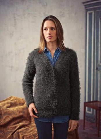 V Neck Cardigan in Bergere de France Plume (705.38)