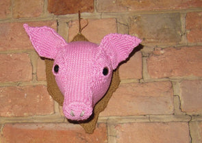 Wall Mounted Pigs Head by MadMonkeyKnits (392) - Digital Version