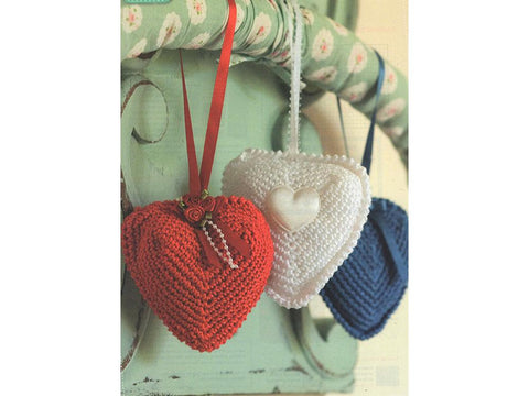 Crochet Wedding Hearts by Val Pierce in Rico Design Essentials Cotton DK