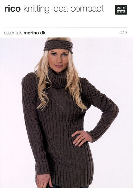 Sweater with Cable Pattern in Rico Design Essentials Merino DK (043)