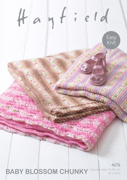 Blankets in Hayfield Baby Blossom Chunky (4676)