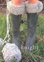 Furry Welly Toppers in Erika Knight Fur Wool and Maxi Wool