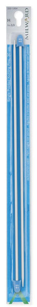 Milward Single Point Knitting Needles (Aluminium) - 25cm (Pair)