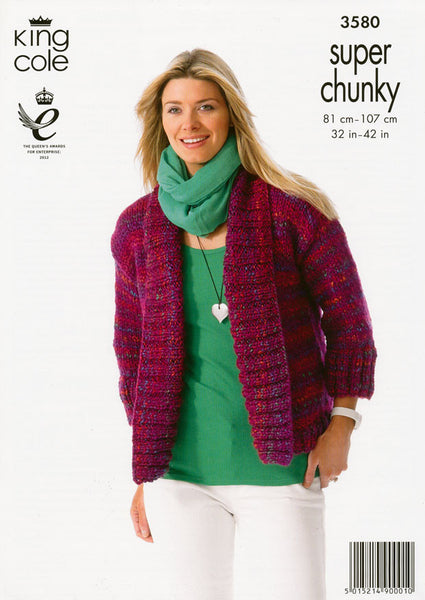 Jackets in King Cole Gypsy Super Chunky (3580)