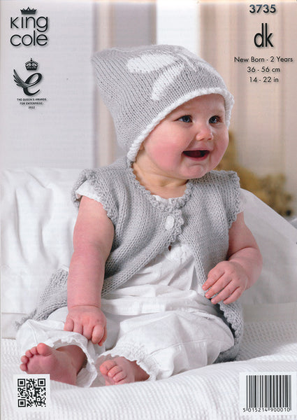 Baby Set in King Cole Comfort Baby DK (3735)