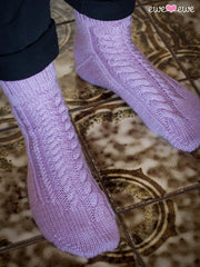 Respectfully Twisted Socks in Ewe So Sporty Merino (404)