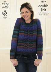 Sweater and Cardigan in King Cole Shine DK (4077)
