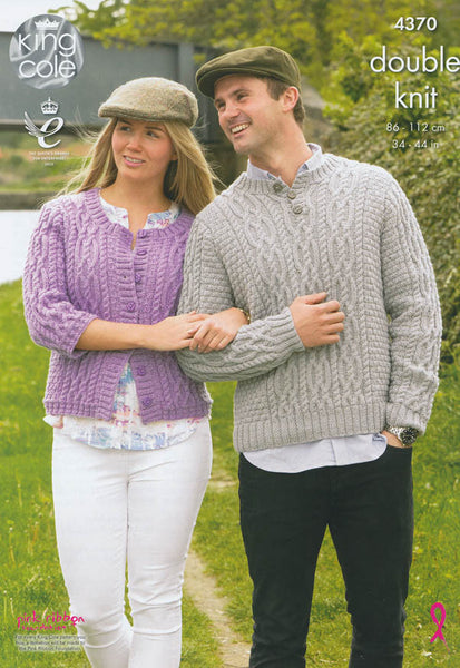 Cardigan and Sweater in King Cole DK (4370)