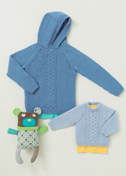 Babies and Childrens Cable Sweaters in Hayfield Baby Aran (4647)
