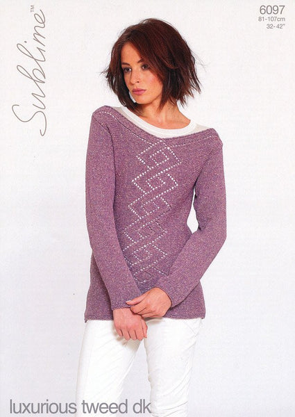 Sweater in Sublime Luxurious Tweed DK (6097)
