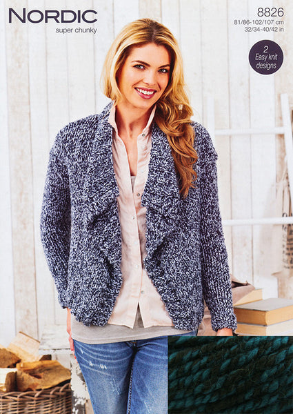 Stylecraft Nordic Super Chunky Cardigan Pack – Seascape