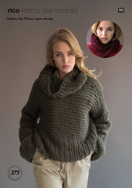 Oversized Sweater and Snood in Rico Design Fashion Big Mohair Super Chunky (375)