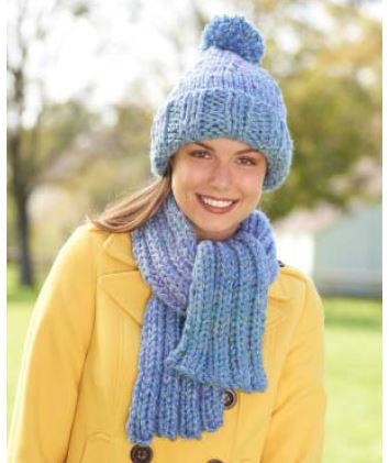 Lion Brand Hometown USA Hat And Scarf Set Digital Version