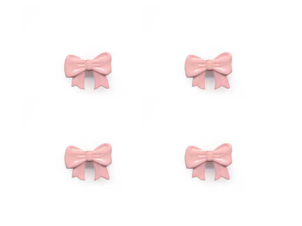 Bow Shaped Buttons - Pink - 089