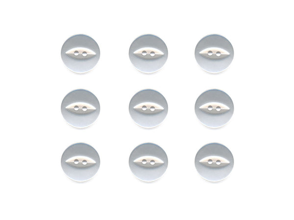 Fish-Eye Buttons - White - 002