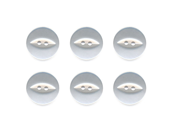 Fish-Eye Buttons - White - 004