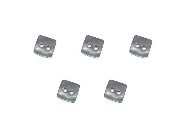 Square Shell Buttons - Grey - 1018