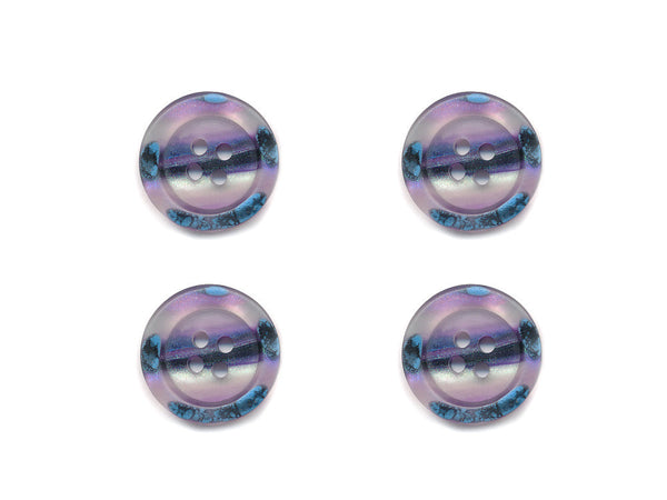 Rimmed Broken Paint Effect Buttons - Purple - 130