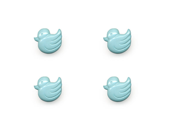 Duck Shaped Buttons - Blue - 156