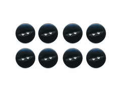 Fish-Eye Buttons - Black - 113