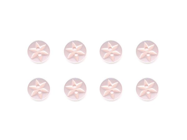 Round Flower Effect Buttons - Pink - 036