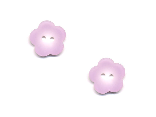 Flower Buttons - Purple - 418