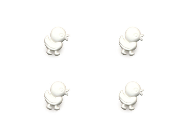 Duck Shaped Buttons - White - 846