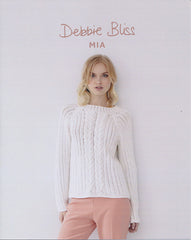 Cable and Eyelet Sweater in Debbie Bliss Mia (DB074)