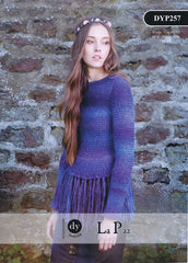 Fringed Sweater in DY Choice La Paz (DYP257)