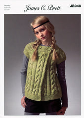 Cardigan in James C. Brett Marble Chunky (JB048)
