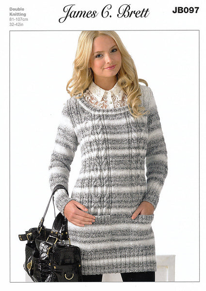 Sweater in James C. Brett Marble DK (JB097)