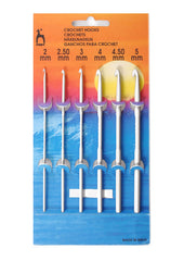 Pony Crochet Hook Set (Aluminium) - 15cm - Set of 6